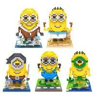 Loz diamant blokken minion bouwstenen 3d action figure kids toys brinquedos juguetes menino jouet enfant