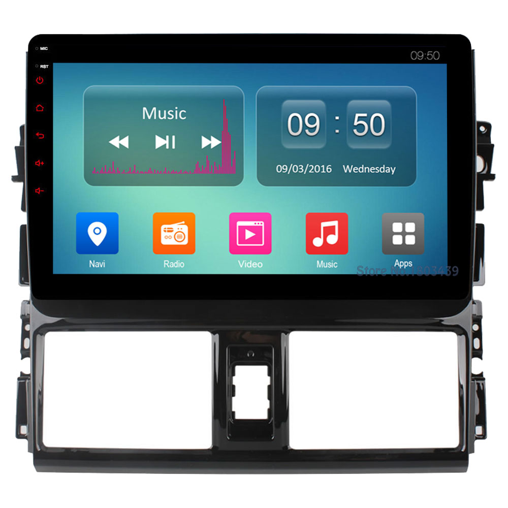 Octa Core 2GB RAM 32GB ROM C500+ 10.1 Android 6.0 4G WIFI DAB+ DVR Car DVD Player Radio For Toyota Vios Yaris L 2013 2014 2015