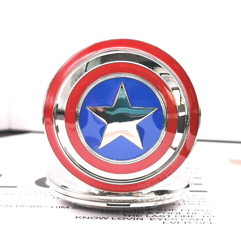 Vintage Super Hero Movie Quartz Pocket Watch Pendant Necklace Unisex Watches With Fob Chain For Men Women