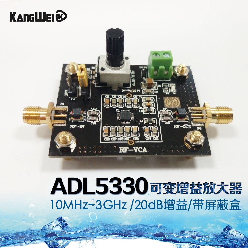 ADL5330 wide band voltage variable gain amplifier module 20dB gain high linear output power cewaal cla402 a4 document photo hot