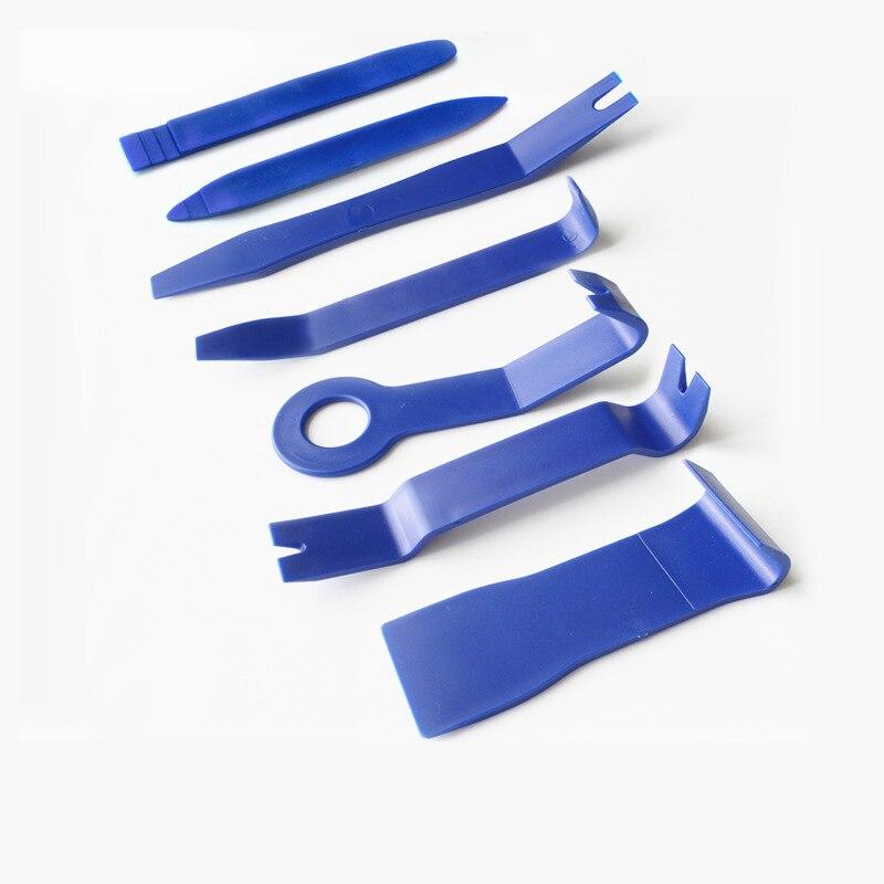 7pcs 하드 플라스틱 자동차 라디오 패널 인테리어 도어 클립 패널 트림 대시 보드 제거 오프닝 도구 세트 DIY 자동차 수리 도구 키트