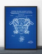 Curtiss самолёт двигатель патент 1920 план самолета настенное
