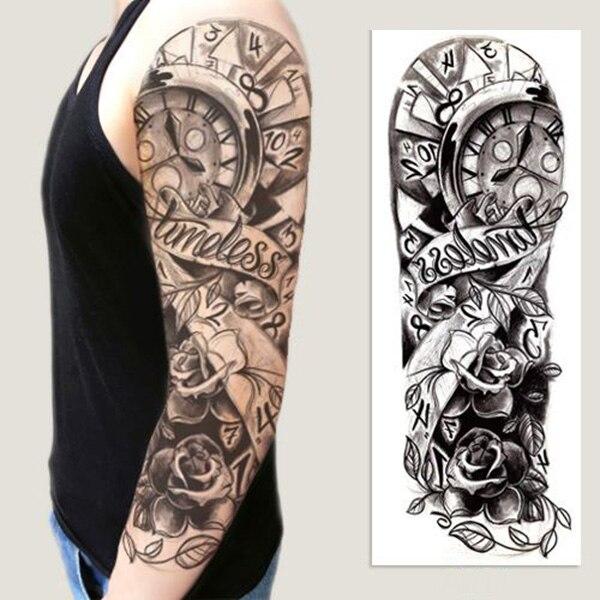 Creative Tijdelijke Tattoo Sticker Volledige Arm Sticker Diy Grote