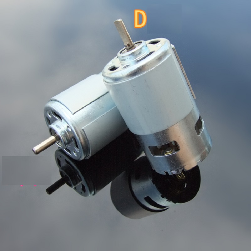 1PCS Metal 795 High Power DC Motor 12-24V Double Ball Bearing Mute High Speed Large Torque Round D Axis for RC Model Cars jx pdi 5521mg 20kg high torque metal gear digital servo for rc model