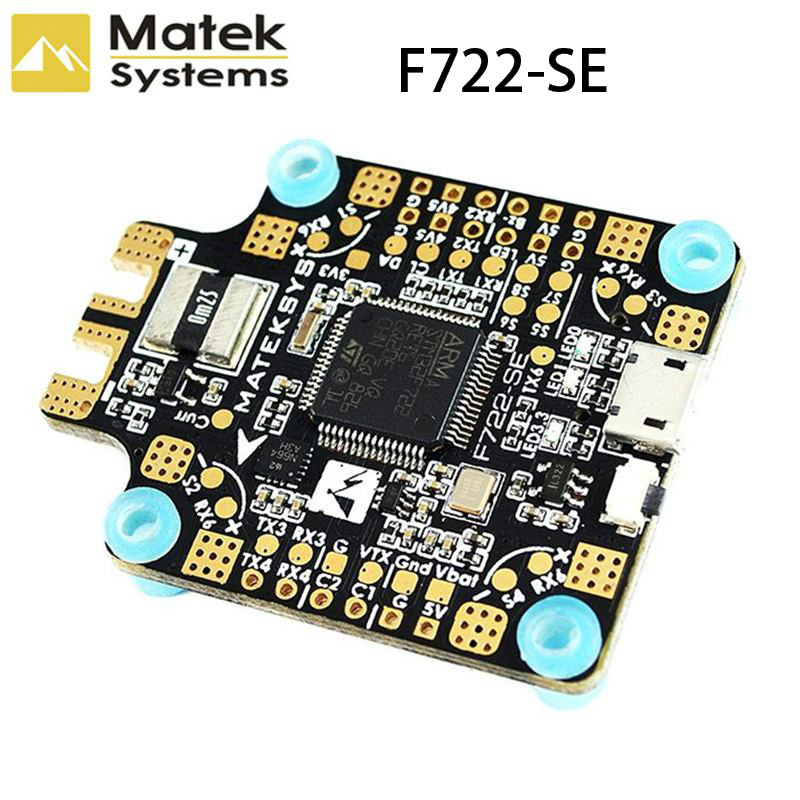 Nuovo Arrivo Sistema di Matek F722-SE F7 Dual Gryo Controllore di Volo AIO OSD BEC Sensore di Corrente Nero Per RC Drone Parte acc