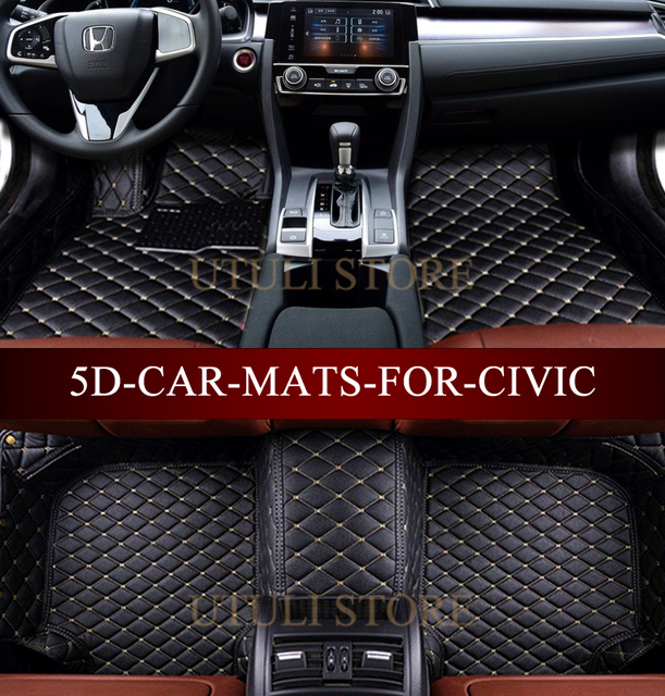 Car Floor Mats For Honda Civic 8th 9th 10th Generation