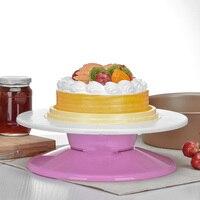 מטבח עוגת קישוט Stand פלטפורמה צלחת מסתובבת פטיפון עגול מסתובב מסתובבת עוגת חג מולד אפיית כלי
