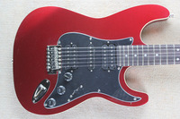 Фабрика магазин металл красный конфеты ST подпись black HSH пикапы палисандр гриф 6 строка Электрическая Гитара Гитара бесплатная доставка