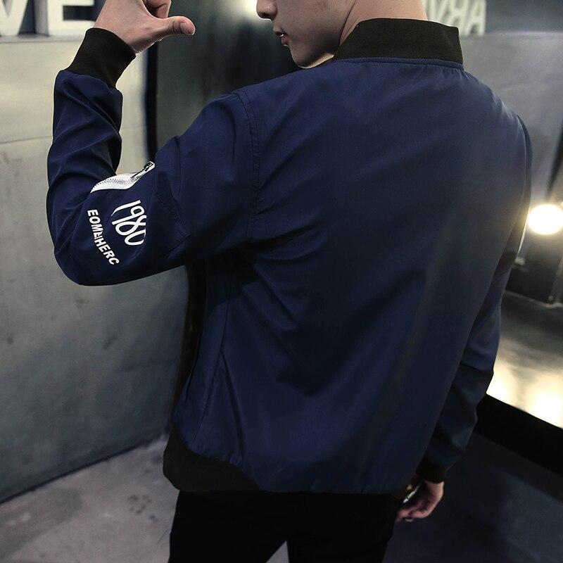 Bleu Supérieure Kxp18 J16 Coupe Décontracté vent P Veste Qualité Pour Col Bmy Vestes Automne white Baseball Sptinh Montant Black blue Hommes De 22 Bormandick Mâle bYgy76f