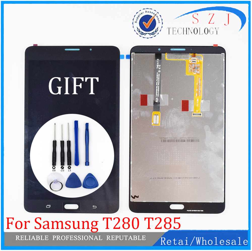 New 7'' for Samsung Galaxy Tab A 7.0 2016 SM-T280 SM-T285 T280 T285 LCD Display Touch Screen Digitizer Assembly Tablet PC Parts new tablet pc lcd screen bp070wx1 300 for samsung galaxy tab 4 7 0 t230 t231 lcd screen display panel free shipping