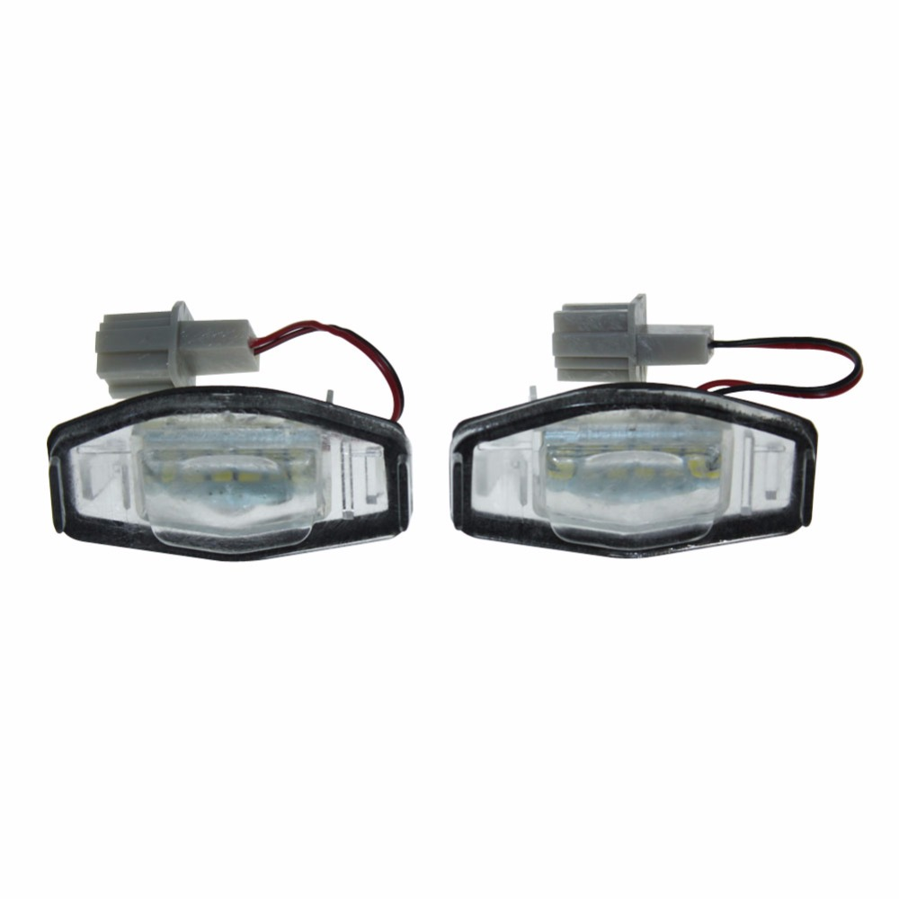 2x Error Free 18 White Car styling Led Rear License Plate light for Honda Civic Accord