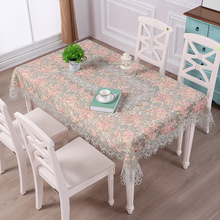 European-style embroidered tablecloth, lace fabric coffee table cloth, dressing cover