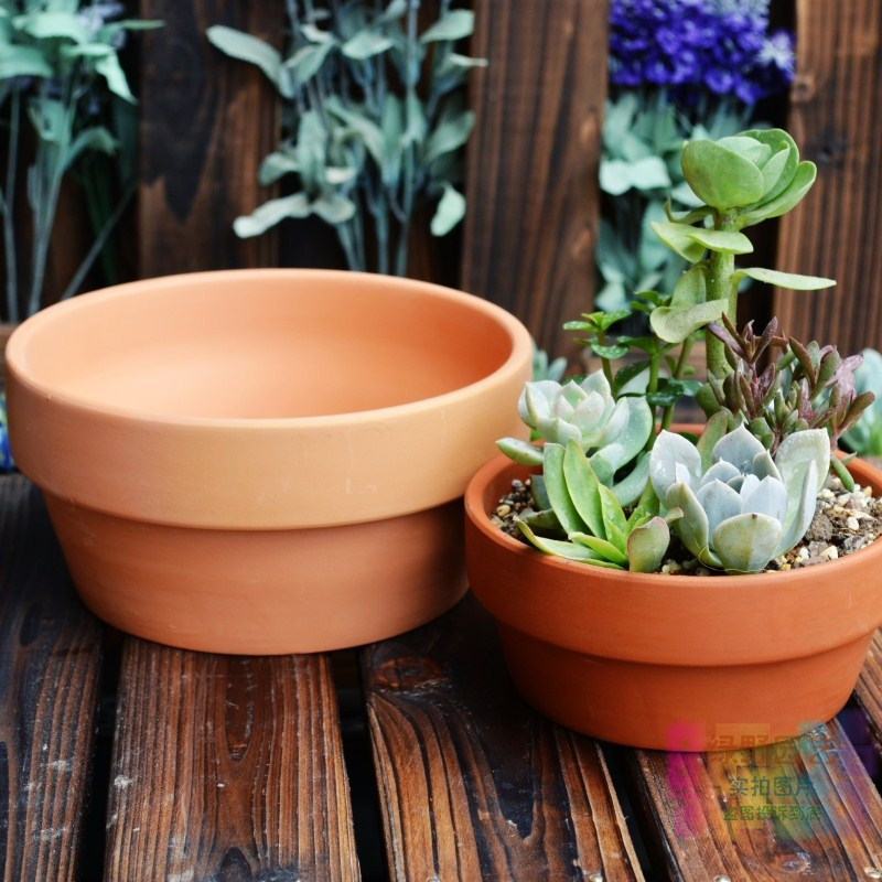 Terracotta Flower Pot Brief Round Pots Fleshier Plant Basin Red Size 3 Pallet In Planters From Home Garden On Aliexpress Alibaba