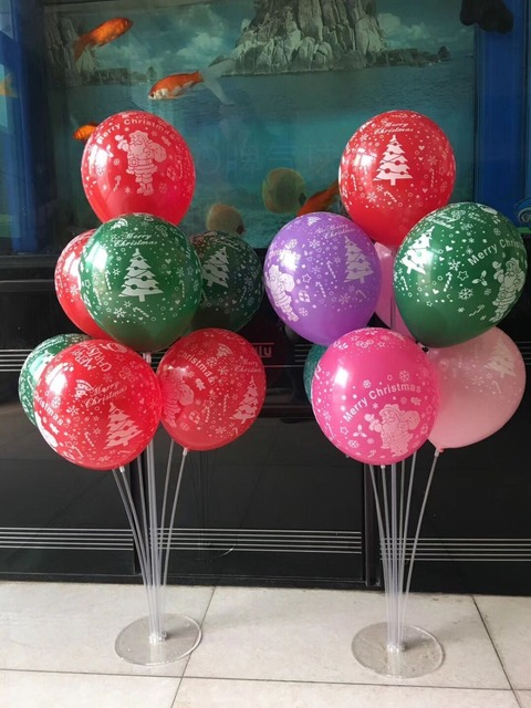 1 Pcs Table Balloon Stand 38 Height With Balloons 30pcs Latex