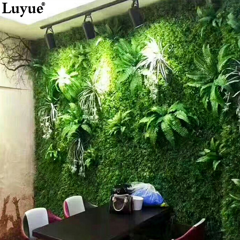 Luyue Artificial Plant Wall Plant Accessories Green Plants Grass  Subtropical Plant Table Decoration Wall Hotel Accessories