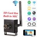 Pequeno Mini Câmera IP Wi-fi HD 960 p 720 P CCTV Sem Fio câmera de rede de áudio do microfone cartão sd p2p suporte android iphone vista