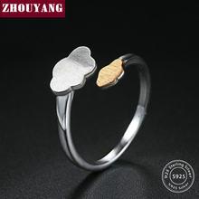 a846f1d8a2e7 ZHOUYANG 2 colores oro y plata nube S925 diseño abierto 925 anillos de plata -joyería fina para las mujeres anti-alergia RY048