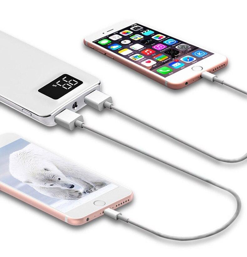Power Bank 30000mah External Battery LCD Portable Mobile Phone Daul USB Charger Powerbank For Xiaomi MI iphone X Samsung 8 usb battery bank charger