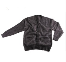 2016mink cashmere sweater men Cardigan sweater coat free shipping