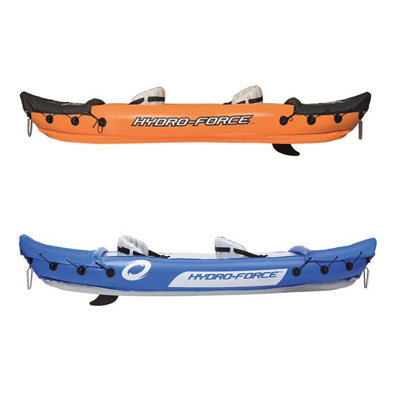 Image 3 - JayCreer 2 Person Inflatable Kayak With Paddle,Load 160KGS ,Material 0.57mm PVC ,Size:321X88CM Blue,351X76CM OrangeRowing Boats   -