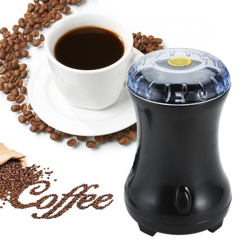 Electric Coffee Spice Grinder Semi Automatic Maker With Stainless Steel Blades Bean Mill Herbs Nut Grinder For Home EU Plug high quality hand coffee grinder manual coffee bean pepper grinder ceramic burr nut mill home office coffee maker