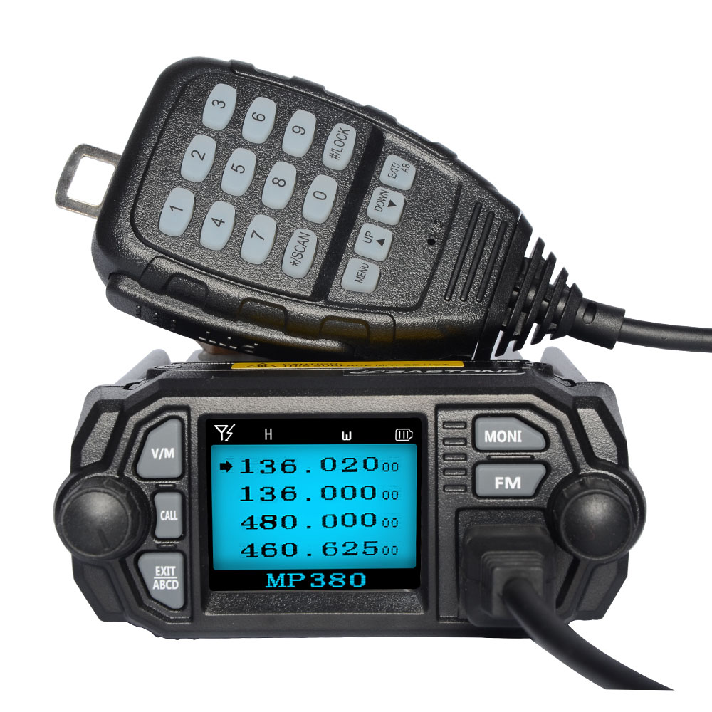 US $76 38 47% OFF|Zastone MP380 Mobile Radio VHF 136~174MHz UHF 400~480MHz  Mini Car Walkie Talkie CB Ham Radio FM Transceiver-in Walkie Talkie from