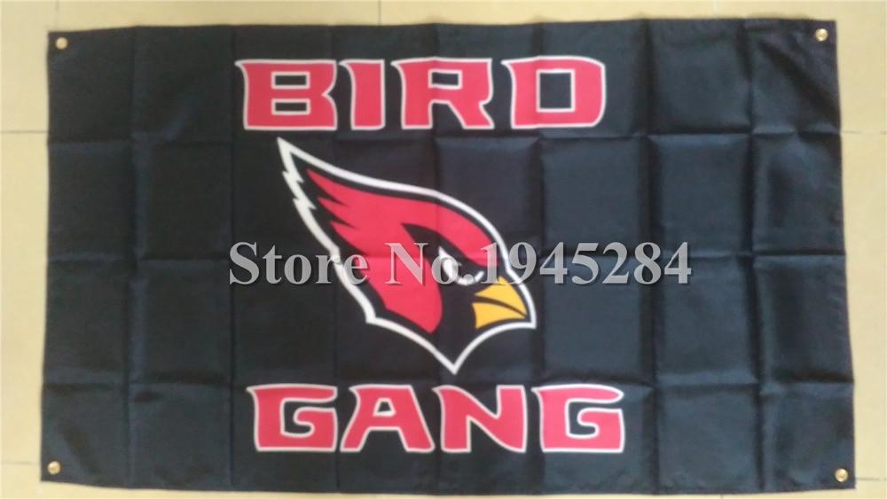 NFL Arizona Cardinals Bird Gang Flag Banner New 3x5ft 90x150cm 100D Polyester Flag Banner, free shipping