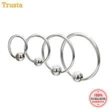 5110d744a88d Trusta 100% de la plata esterlina 925 2 piezas pequeña bola aro pendientes  de aro oreja Piercing Tragus Helix cartílago DS156