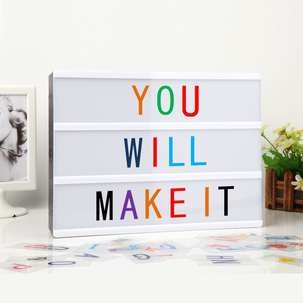 Wonderful Newest LED Cinema Lightbox Light Box Letters Acrylic A4 Size Battery Or USB  DC Powered Cinematic Light Box Indoor Lighting In Photo Studio Accessories  From ...