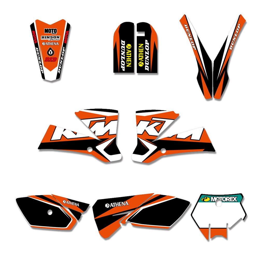 Senge Graphics kit compatible with KTM 2005-2006 SX Surge Orange Graphics Kit