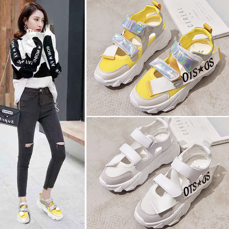 Women Outdoor Sandals Summer Casual Comfortable Anti-slip Shoes Beach Platform Ankle Sandals Girl Beach Sport Shoes