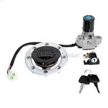Motorcycle Ignition Switch Lock+ Fuel Gas Cap Cover+ Seat Lock+Key Set for Suzuki GSF250/GSF400 Bandit GSX750 GSX600 GS500 94-99