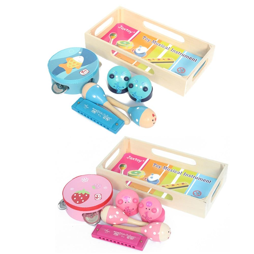 Kit de instrumentos de música crianças pré-escolar percussão 4 pcs conjunto de instrumentos musicais