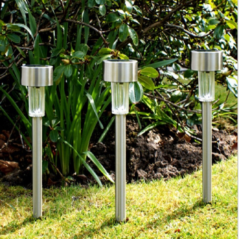 Stainless Steel Solar Lawn Led Light Outdoor Waterproof Lamp With Battery Luminaria Landscape For Garden Decoration In Lamps From Lights