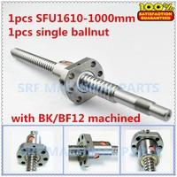 Brand New 1pcs 16mm lead ball screw RM1610 Rolled Ballscrew L=1000mm +1pcs SFU1610 ball nut for CNC part