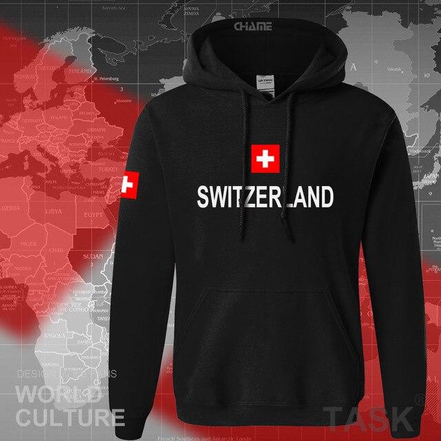 Switzerland hoodies men sweatshirt sweat new hip hop streetwear clothing jerseys tracksuit nation Swiss flag fleece Switzer CH 1