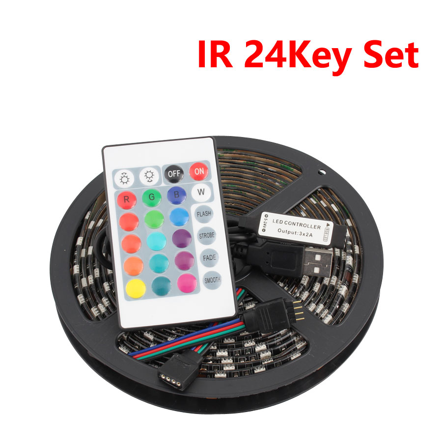 LED Strip Light USB 5V Ledstrip 60leds 5V Fita Backlight LED Strip USB SMD 5050 RGB LED Tape Flexible Ribbon None Tape Tira USB