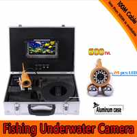 Underwater Fishing Camera Kit with 100Meters Depth Dual Lead Bar Camera & 7Inch Color TFT Display Monitor & Aluminum Case