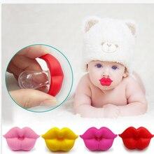 Детская соска красный поцелуй губы пустышка забавные силиконовые детские соски Прорезыватель пустышки пустышка уход за зубами ребенка