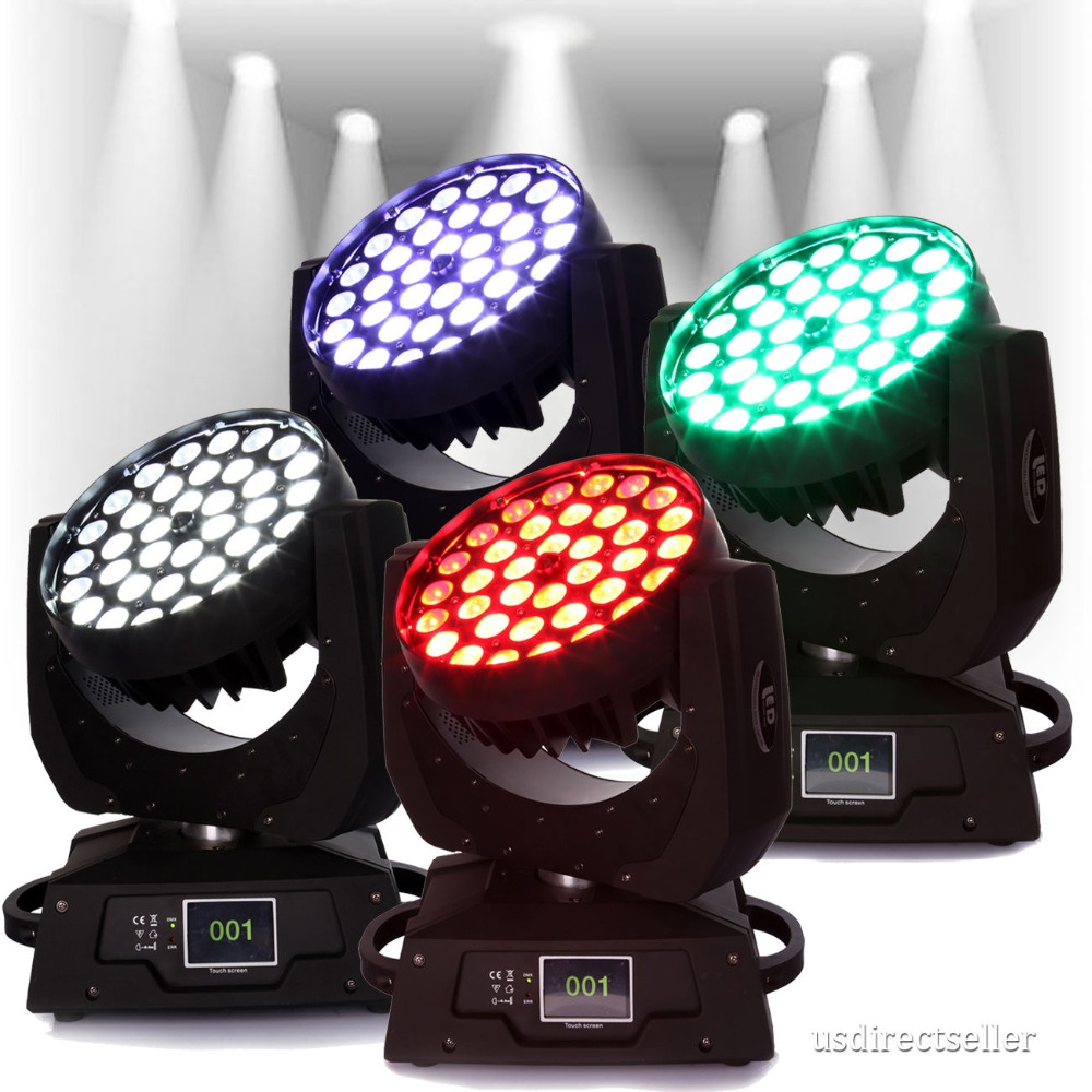 Ship from DE 4PCS 360W Zoom RGBW Wash Light Led Moving Head Stage DMX stage