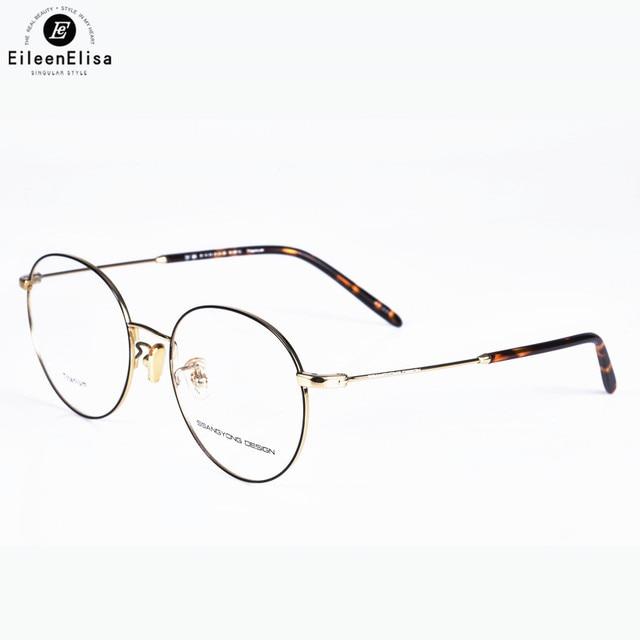 db1ec34fc1 2017 EE Gold Vintage Glasses Frame Women Men Retro Round Metal Eyeglasses  Myopia Optical Eyewear Oculos De Grau