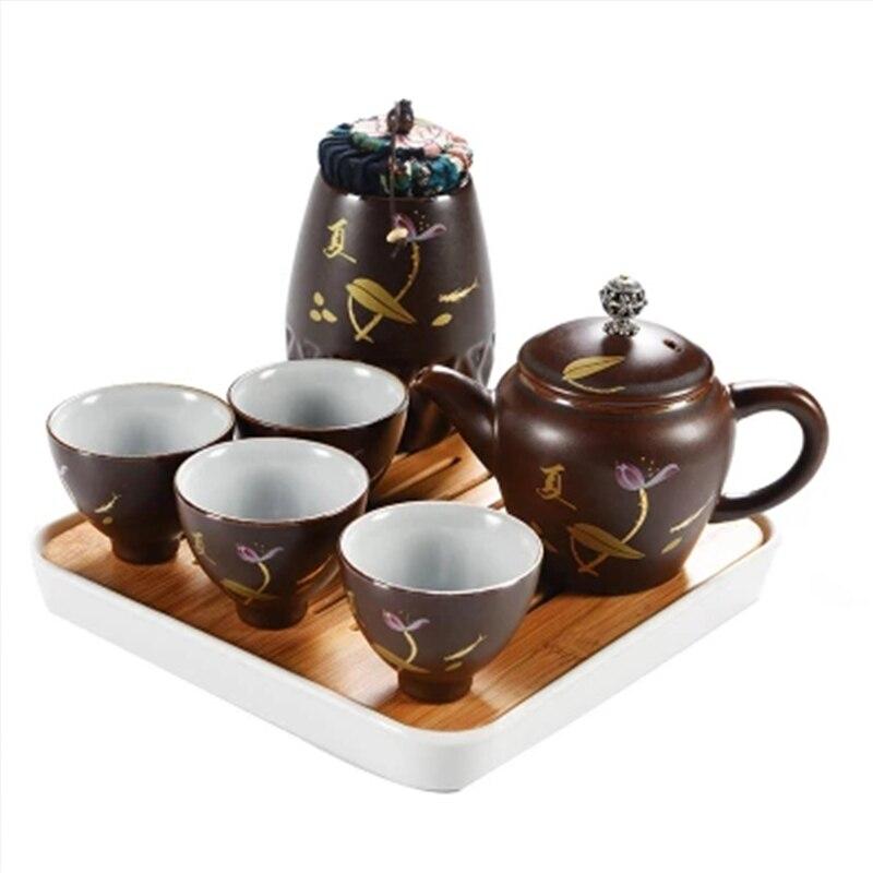 Tasse rapide, créatif chinois céladon porcelaine céramique Kung Fu thé ensemble voyage Gong Fu thé Pot voyage thé ensemble 1 Gaiwan 4 tasses cadeau