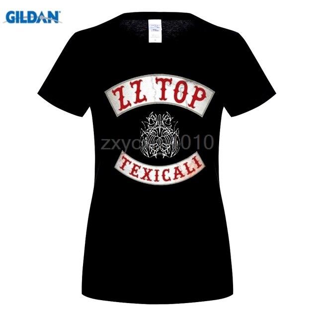 GILDAN women\'S Fashion Cool Zz Top Texicali Band Logo Design women\'S ...