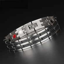 Chain Bracelets Men Jewelry Energy Magnetic Health Bracelet Brazil Style Couples Black Titanium Bracelets Handmade