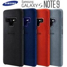삼성 Note 9 케이스 100% 정품 정품 스웨이드 가죽 장착 보호 케이스 Samsung Galaxy Note 9 케이스 Galaxy Note9 커버