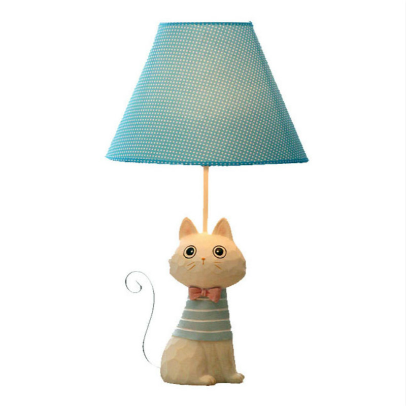 2018 Creative Decoration Cute Animal Cat Resin Children Cartoon Desk Lamp Cartoon Cat Desk Lamps Bedroom Creative For Home плакат в тубусе история изобретений