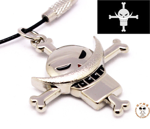 One Piece Cosplay Necklace Key Chain Portgas D Ace Whitebeard Sea