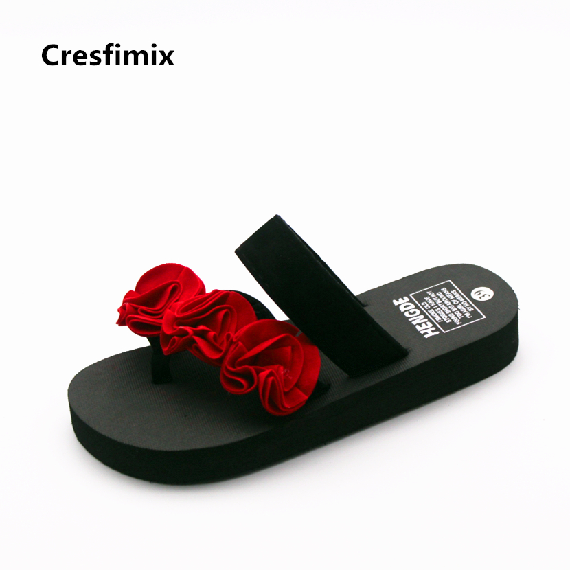 e15176e87bbed ... women casual floral eva flip flops lady cute and comfortable flower   BAICLOTHING women cute transparent crystal jelly sandals shoes lady cool  pink beach ...