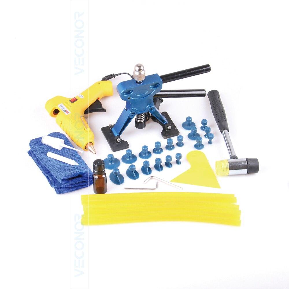 Цена за 32 шт. набор панели dent repair tool авто дент съемник PDR инструмент с 18 шт. клей puller tabs автосервис инструменты
