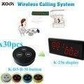 Restaurante invitado servicio de llamadas con K-236 monitor K - D3 transmisor botón ( 1 + 30 mesa de campana botón )